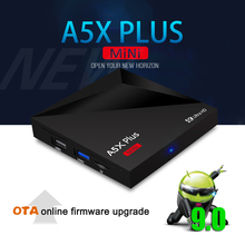 Android 9.0 Smart TV BOX A5X Plus Mini Home Media Player 2G 16G 2.4G WIFI 10-100M LAN 4K ULTRA HD Set Top Box USB 3.0 OTT Player zidoo x10 smart tv box quad core android 6 0 4k tv box 2g 16g dual band wifi hdmi 2 0 hdr media player 1000m lan set top box
