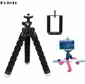 Image 3 - Foleto 유연한 미니 삼각대 스폰지 문어 selfie 블루투스 원격 제어 범용 디지털 카메라 아이폰 7 삼성 화웨이