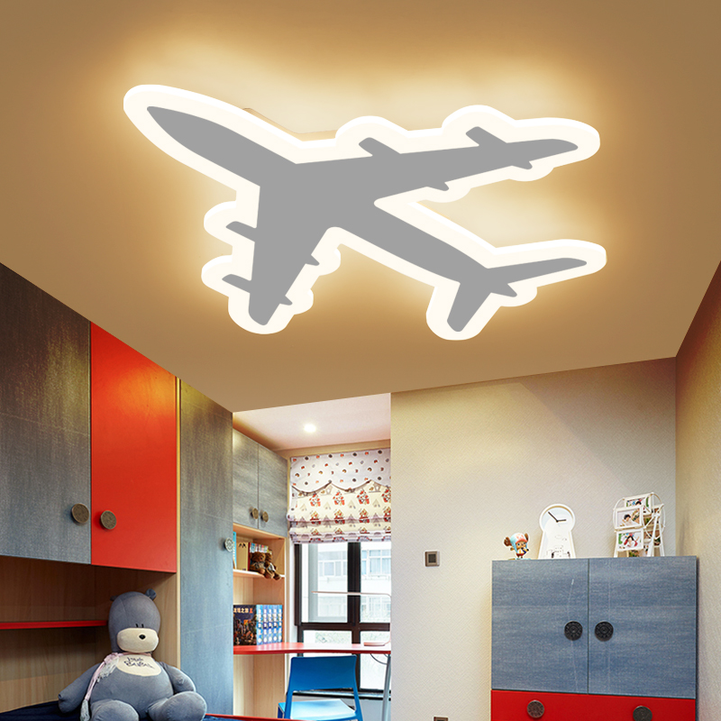 Image 4 - DIY Acrylic Airplane LED Ceiling Light  Modern Kids Bedroom Ceiling lamp  decorative home indoor lighting-in Ceiling Lights from Lights & Lighting