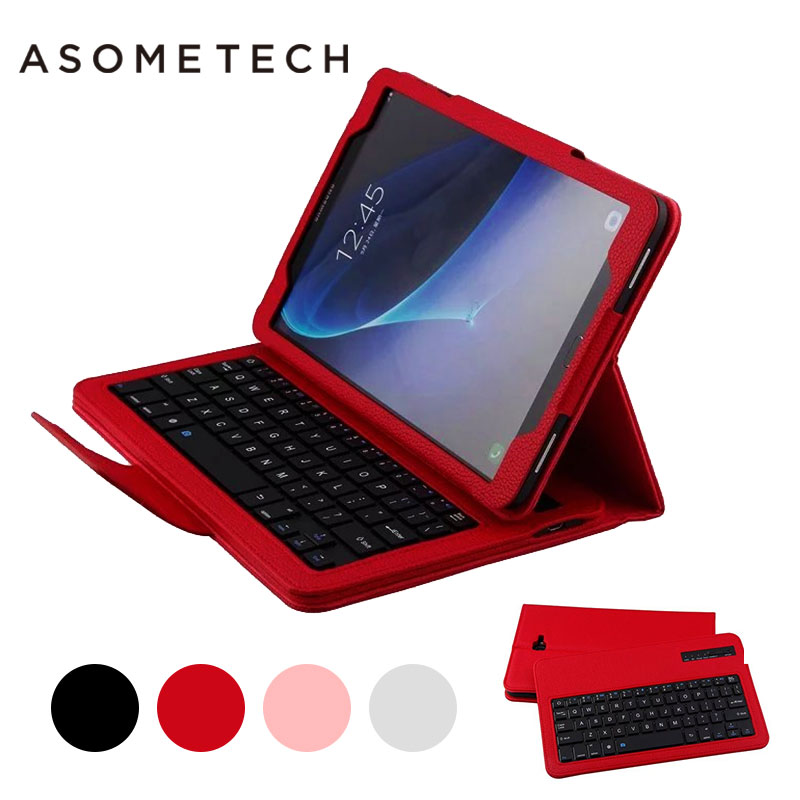 Wireless Bluetooth Keyboard Senior PU Cover Full Protective Smart Case For Apple 2017 New iPad 9.7 air 1 2 Matte Cover Capa+Gift
