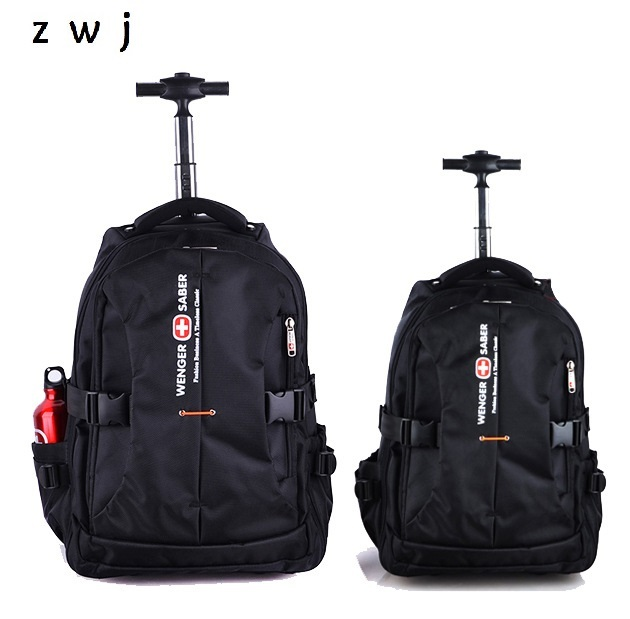 Men Business Travel Duffle Carry On Suitcase Wheels Computer Backpack  Rolling Luggage Trolley Travel Bag 95111d53bb696