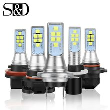 Car LED Fog Light Bulbs H1 H3 H7 H11 H16 9005/HB3 9006/HB4 H27 880 881 P13W PSX26W PSX24W Auto Driving Lamp 1400LM 6000K White(China)