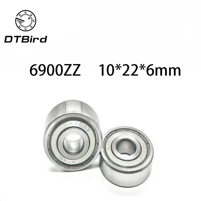 AT Bearing 10x22x6mm RS chrome steel rubber shielded 1pc