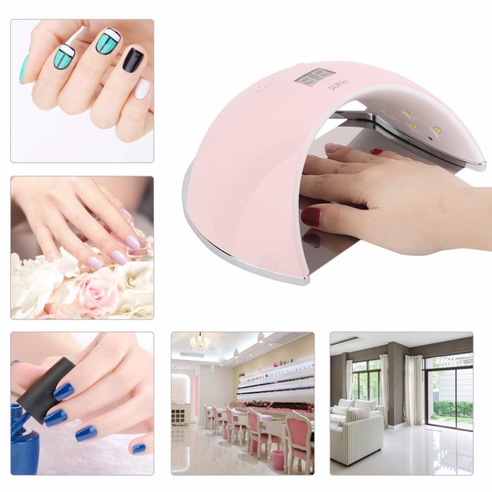 цены 48W Professional LED UV Nail Lamp Nail Polish Dryer For Curing Nail Gel Polish Nail Art Manicure Tool SUN6 EU Plug Hot New