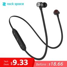 ROCKSPACE IPX4 Bluetooth 5,0 Беспроводной наушники Магнитная Дизайн Шум снижение вкладыши для тренажерного зала работает с микрофоном звук стерео