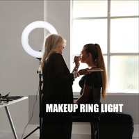 ZOMEI Dimmable LED Studio Selfie Ring Light Photographic Lighting Lamp Makeup With Stand For Camera Photo Youtube Video Shooting