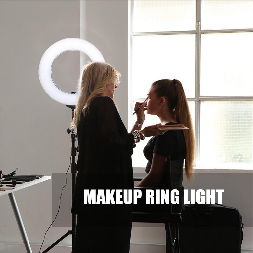 ZOMEI Dimmable LED Studio Selfie Anneau Lumière Photographique Éclairage Lampe Maquillage Avec Support Pour Caméra Photo Youtube Vidéo Tir