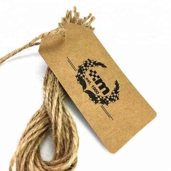 Folded Garment Socks kraft Paper Hang Tags And Labels