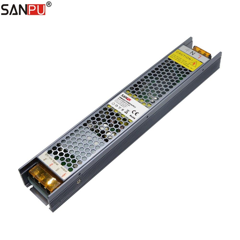 SANPU DC24V Dimmable 0-10V Traic SCR Power Supply Unit 250W 10A 24V Constant Voltage 24 Volt LED Driver 220-24V CRS250-H1V24