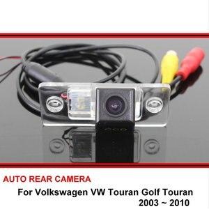 Para Volkswagen Touran Touran Golf 2003 ~ 2010 HD Visão CCD Noite Câmera de Estacionamento Traseira Do Carro Reverter de Volta até Câmera câmera de visão