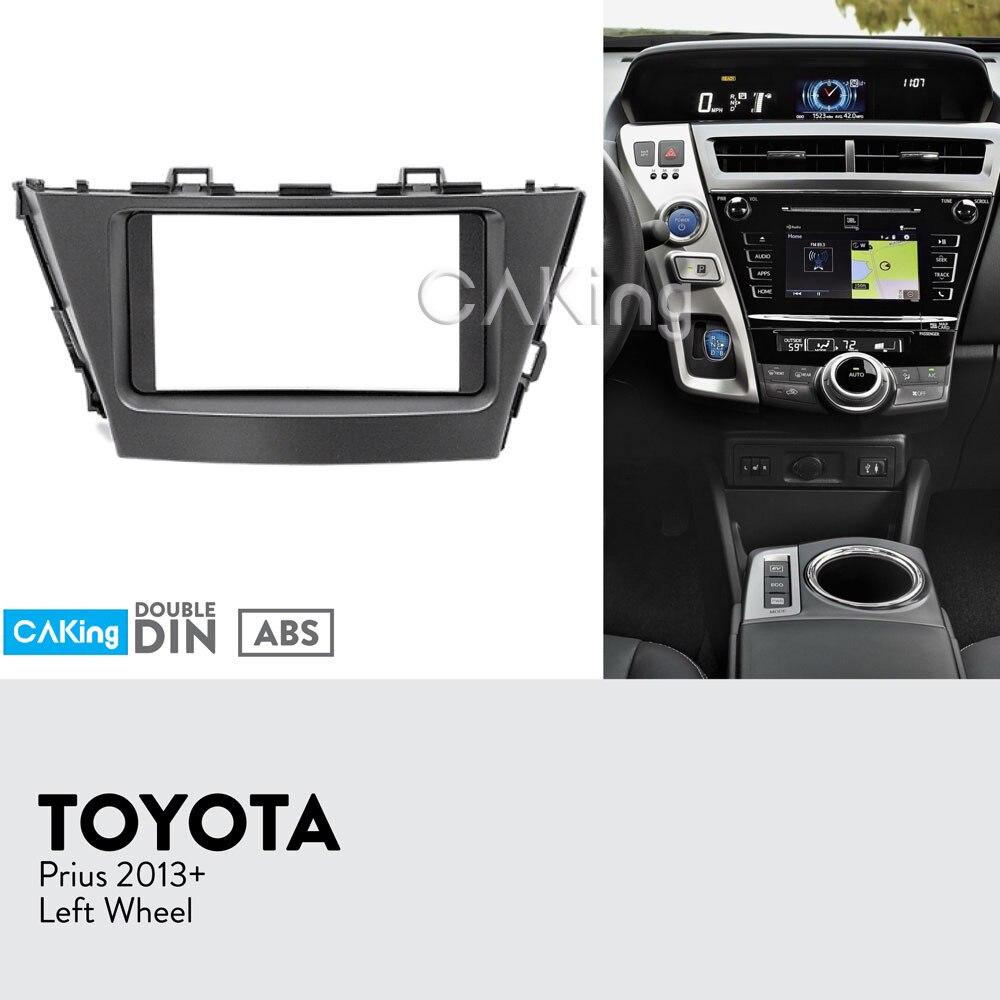 Car Fascia Radio Panel for TOYOTA PRIUS 2013 Right Wheel Dash Kit Install Console Facia Plate