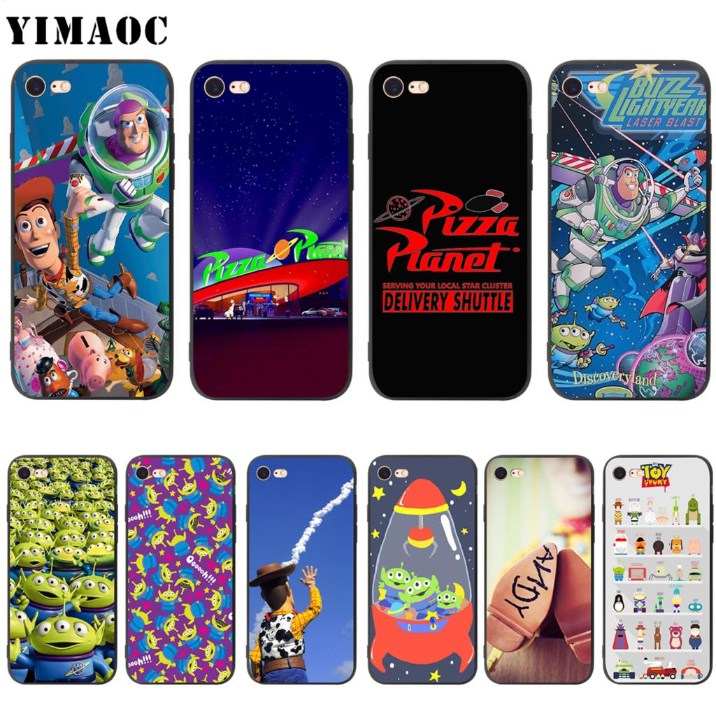 YIMAOC <font><b>Toy</b></font> <font><b>Story</b></font> Pizza Planet Soft Silicone Case for <font><b>iPhone</b></font> 11 Pro XS Max XR X 8 7 <font><b>6</b></font> 6S Plus 5 5s se image