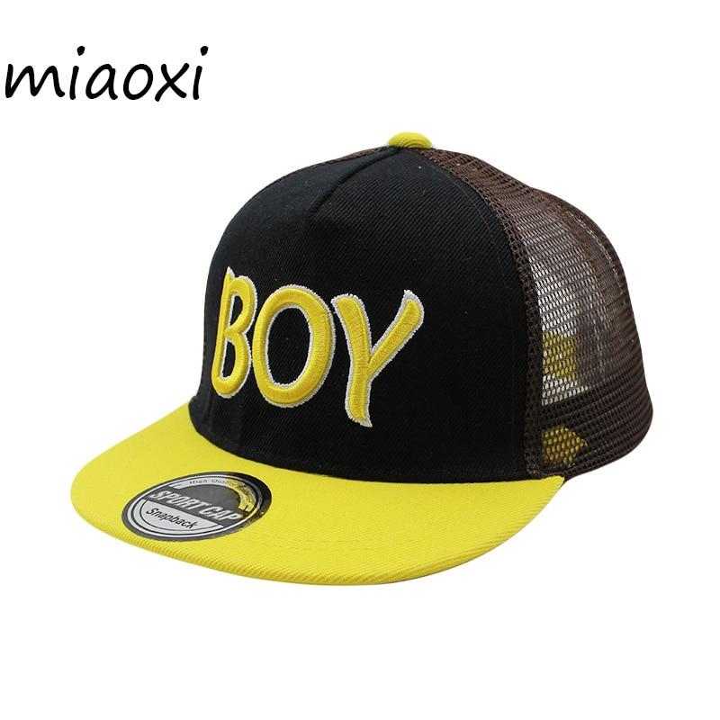 miaoxi Hot Sale Children Hat Boys   Baseball     Cap   Summer Ventilation Child Hats Sun Snapback Comfortable New Style   Caps   Bone