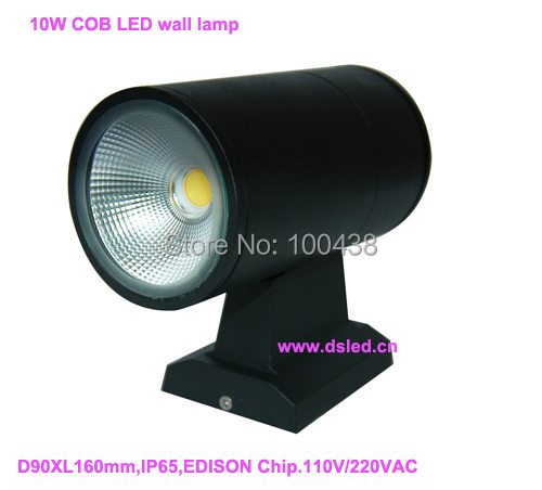 Free shipping by DHL!! 10W up-down COB LED porch lamp,LED wall lamp,good quality EDISON Chip,1X10W,DS-08-15-10W,110V/220VAC,IP65 kl5m c 10pcs lot new arrival led cordless cap lamp miner s light free shipping by dhl