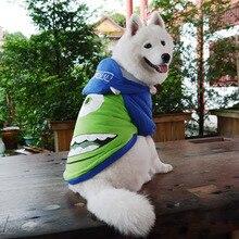 funny halloween pet cat dog monster costume big dog puppy cotton padded jacket coat golden retriever