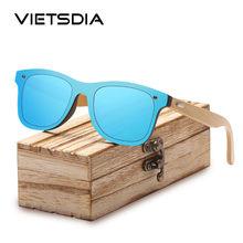 VIETSDIA madera gafas de sol para las mujeres hombres marco de bambú gafas  de madera hechos a mano Unisex sombras con bambú libr. 5bb7834188b9