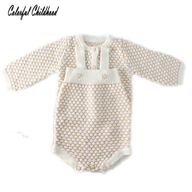936e5a4f6 Soft breathable baby boy clothes autumn cotton knitted romper baby ...