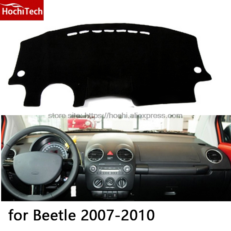 HochiTech for Volkswagen VW Beetle 2007-2010 dashboard mat Protective pad Shade Cushion Photophobism Pad car styling accessories hot sale abs chromed front behind fog lamp cover 2pcs set car accessories for volkswagen vw tiguan 2010 2011 2012 2013