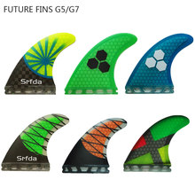 14 Colors Future Fins  G5/G7 Surfing Paddling Honeycomb Fiberglass Surfboard Fin Pure Color Fcs 3pc per set Quilhas A
