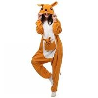 Unisex Adults Yellow Kangaroo Cartoon Costume Pajama Halloween Christmas Onesies Unisex Teenagers Famous Cartoon Lounge Wear