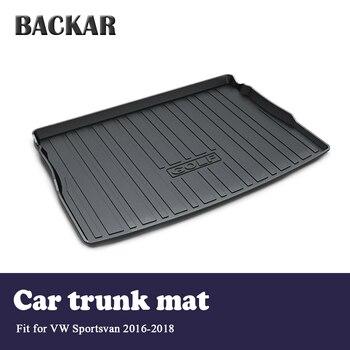 Backar Car Cargo Rear Trunk Mat Boot Liner Tray Waterproof Anti-slip Mat For VW Golf Sportsvan 2016 2017 2018 Accessories