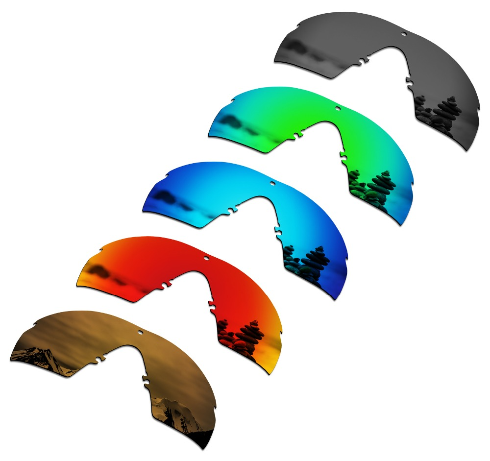 SmartVLT 5 Pieces Polarized Sunglasses Replacement Lenses for Oakley Si M Frame 2.0 - 5 Colors
