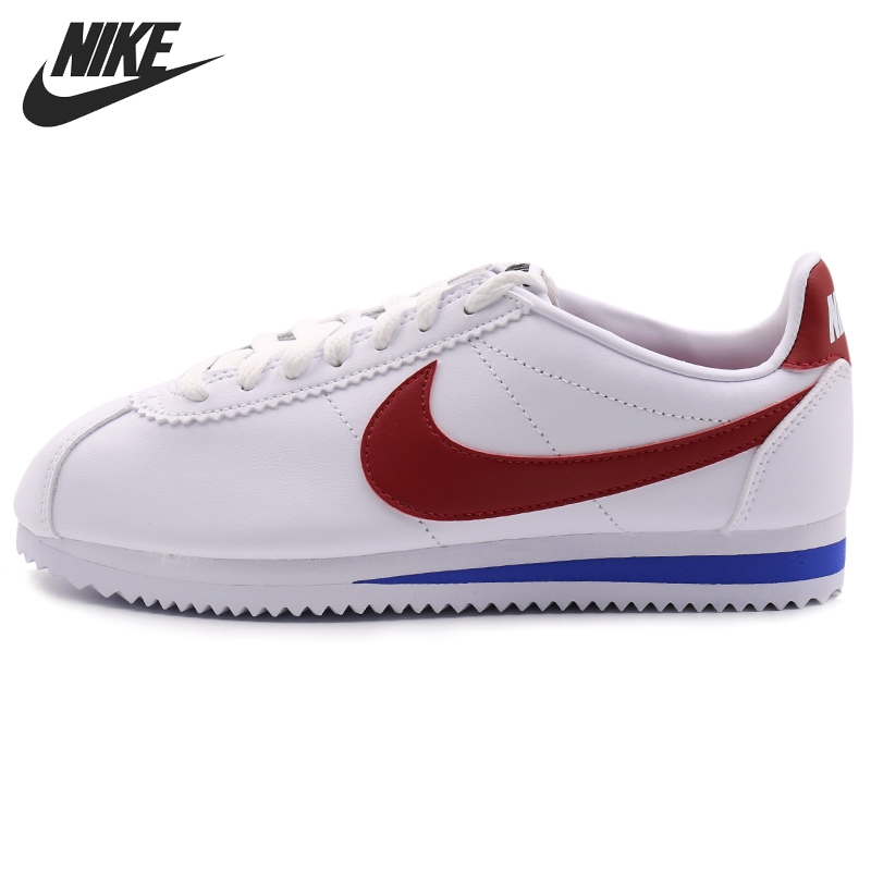 Original New Arrival  NIKE  CLASSIC CORTEZ LEATHER Women's  Skateboarding Shoes Sneakers