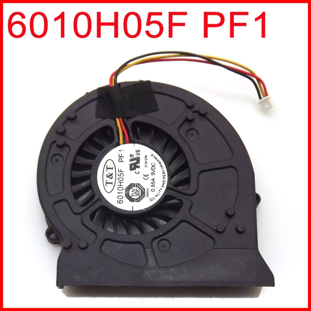 NEW 6010H05F PF1 3PIN Laptop CPU Cooler Fan For <font><b>MSI</b></font> <font><b>EX620</b></font> EX623 GX623 EX623GS EX625 EX628 EX630 EX628 GX400 CX420 ms-1674 image