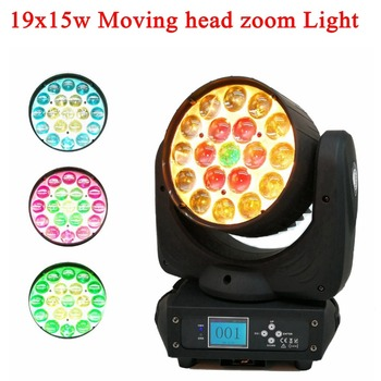 הכי חדש 2IN1 הוביל קרן נע שלב אור RGBW 19x15W RGB מתקדם 13/24 DMX 512 LED דיסקו DJ מנורת Strobe המפלגה בר שלב אורות
