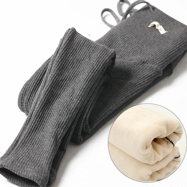 100% Mulheres Roupas de ALGODÃO Engrossado Com Veludo Mulheres Grávidas Leggings Maternidade Leggings Inverno Calças Quentes SYHB12231