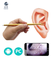 Digital Otoscope 3in1(Micro&Type-C&USB)Inspection Endoscope Camera Water-proof Dust-proof LED Light Ear Cleaning Tool Ear Spoon