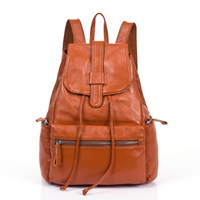 PROMOTION First Layer Of Cowhide Backpack Women Preppy Style Genuine Leather Backpack Women Travel Bag Female