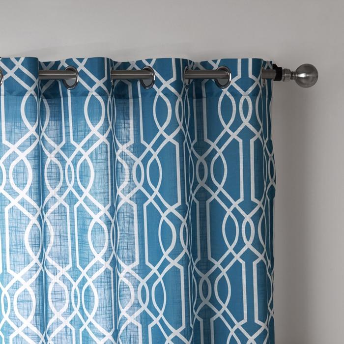 comprar moda moderna cortina impresa geomtrica azul ventana cortinas saln curtain home textiles envo libre un panel de curtain print