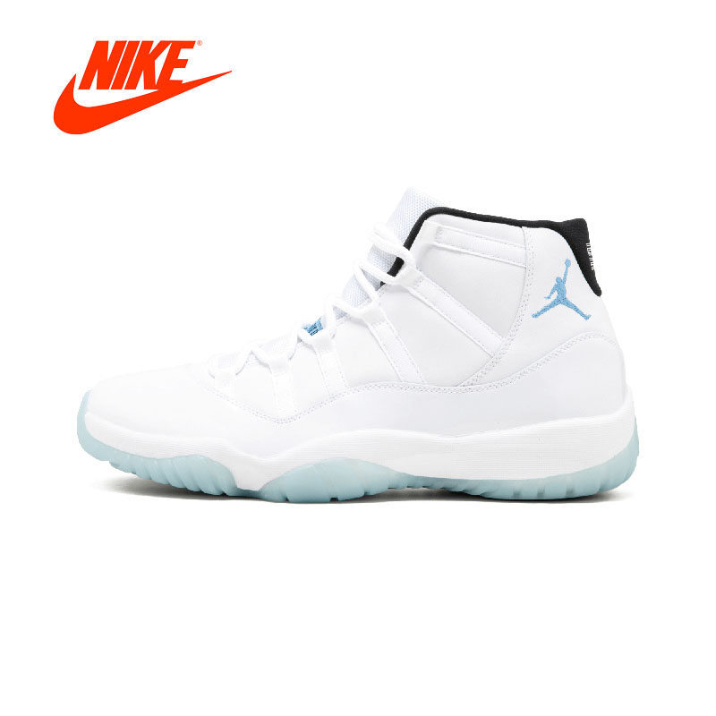 Original New Arrival Authentic NIKE Air Jordan 11 Retro Legend Blue AJ11 Mens Basketball Shoes Sneakers Sport Outdoor