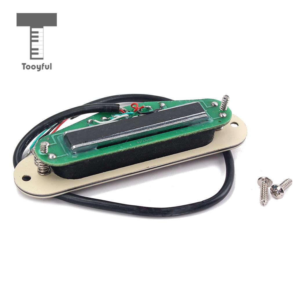 Tooyful Dual Rail Pickup Humbucker With Cover For Electric Cigar Circuit Board On Vintage Box Acoustic Guitar Parts In Accessories From Sports Entertainment