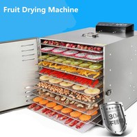 10 Layer Fruit Drying Machine Stainless Steel 800W Vegetable Beef Drying Sausage Food Drying Machine