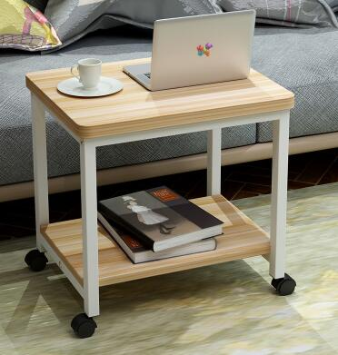 Portable tea table. Simple modern small square table. The small table.18 toughened glass small tea table phone sofa the round table