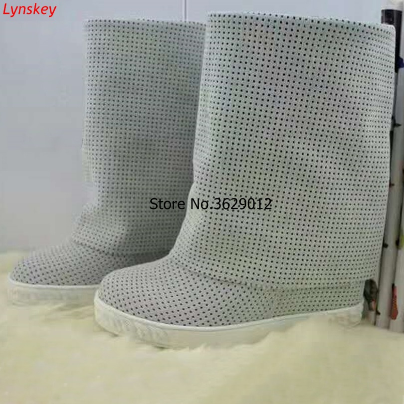 Spring Autumn New Fashion Suede Leather Women Knee High Boots Sexy Round Toe Ladies Hidden Wedge Heel Boots Spring Autumn New Fashion Suede Leather Women Knee High Boots Sexy Round Toe Ladies Hidden Wedge Heel Boots