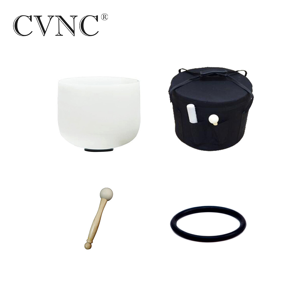 CVNC 12 Note  C D E F G A B any one Note Frosted Quartz Crystal Singing Bowl with free bagCVNC 12 Note  C D E F G A B any one Note Frosted Quartz Crystal Singing Bowl with free bag