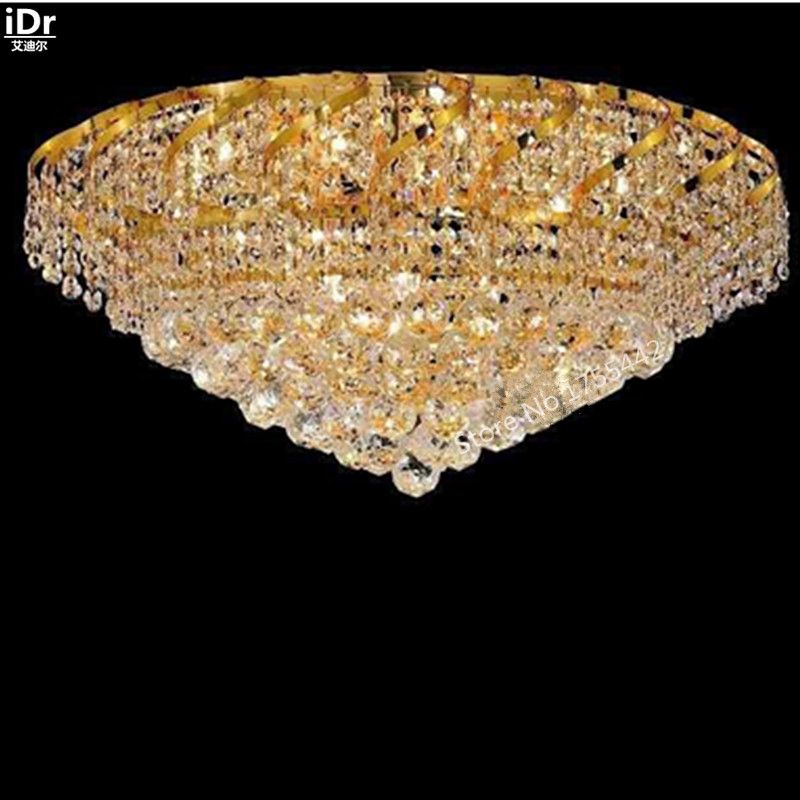 gold Ceiling Lights Contemporary hotel lobby lamp bedroom lamp crystal lamps flush mounted 66cm W x 33cm H