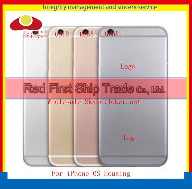 "Reemplazo de alta Calidad de 4.7 ""para iphone 6 s de la cubierta de la batería cubierta de la puerta trasera de la cubierta del cuerpo gris plata oro rosa negro"