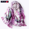SALUTTO Luxury Brand 100% Silk Printing Scarf Women Spring And Autumn Bufandas Mujer 2016 Famous Landscape Painting Cachecol
