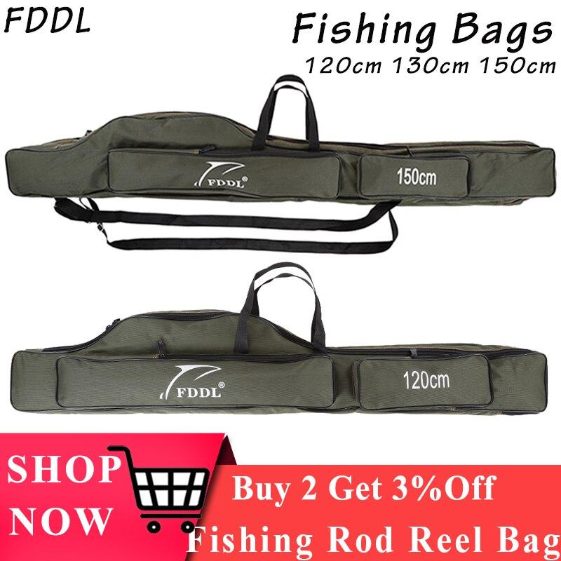 FDDL Fishing Bag Portable Folding Fishing Rod Reel Storage Bag Organizer S7P3
