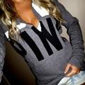 Sexy Girl AMOR ROSA moda tide marca camisola VS impressão pullovers hoody Outono hoodies Outerwear Casuais mulheres sudaderas mujer