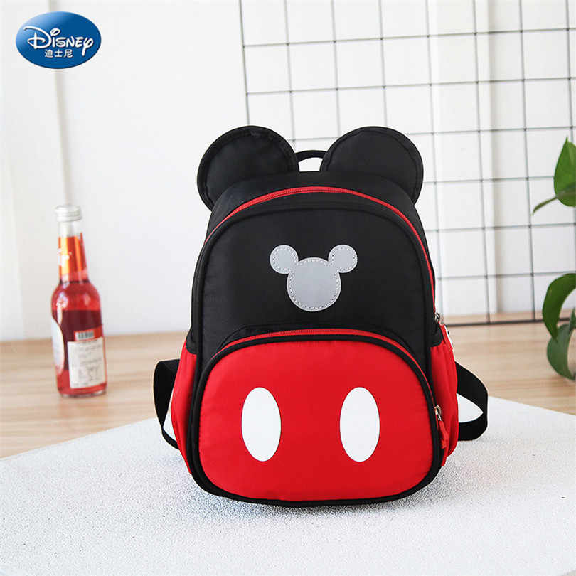 051c04bc05e ... Disney 2019 New Mickey Mouse Backpack Kids Girls Boy School-Bag Cute Children  Backpacks Polyester ...
