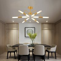 6 Heads Golden Personality Living Room Ceiling Lamp Post Modernity Simple Restaurant Northern Europe Bedroom Home