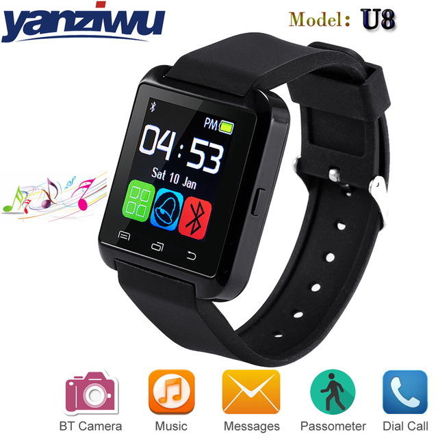 huge selection of 3a3f7 40be0 US $18.35 |YANZIWU Hot sale U8 Bluetooth Smart Watch U Smart Watch  Altimeter Barometer For IPhone 4/5S/6 Android Phone Smart Phones watch-in  Smart ...
