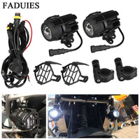 FADUIES 1 set 40W Motorcycle LED Auxiliary Fog Light Spot Driving Lamps For BMW R1200GS/ADV/F800GS/F700GS/F650FS