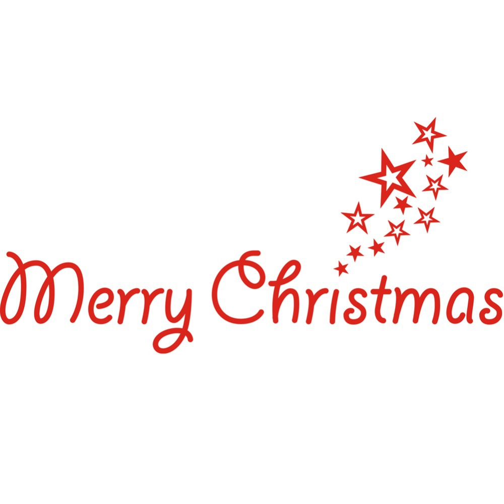 Merry Christmas Decal Vinyl Decal words Door Decoration Holiday ...