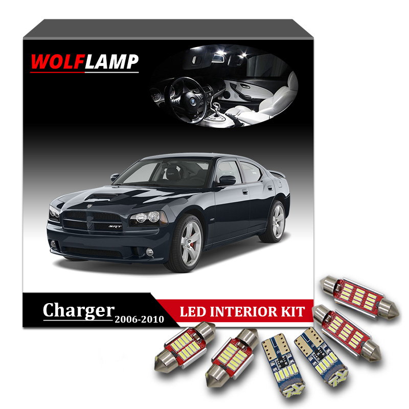 Us 13 43 36 Off Wolflamp 12pcs Canbus White Ice Blue Led Interior Car Lights For 2006 2010 Dodge Charger Map Light Dome Lamp License Plate Bulb In